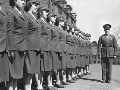 1st group of 71 Women Marine Officer Candidates arrived 13 March 1943 at U.S. Midshipmen School (Women's Reserve) at Mount Holyoke College in South Hadley, Massachusetts.
